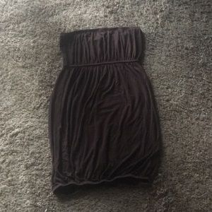 Brown strapless dress